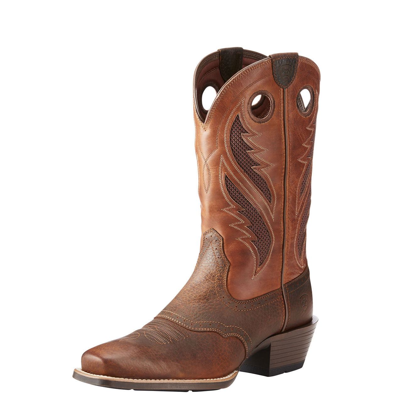 aa9d0137872 MEN'S ARIAT BOOTS VENTTEK™ NARROW SQUARE TOE ULTRA BROWN OILED ROWDY ...