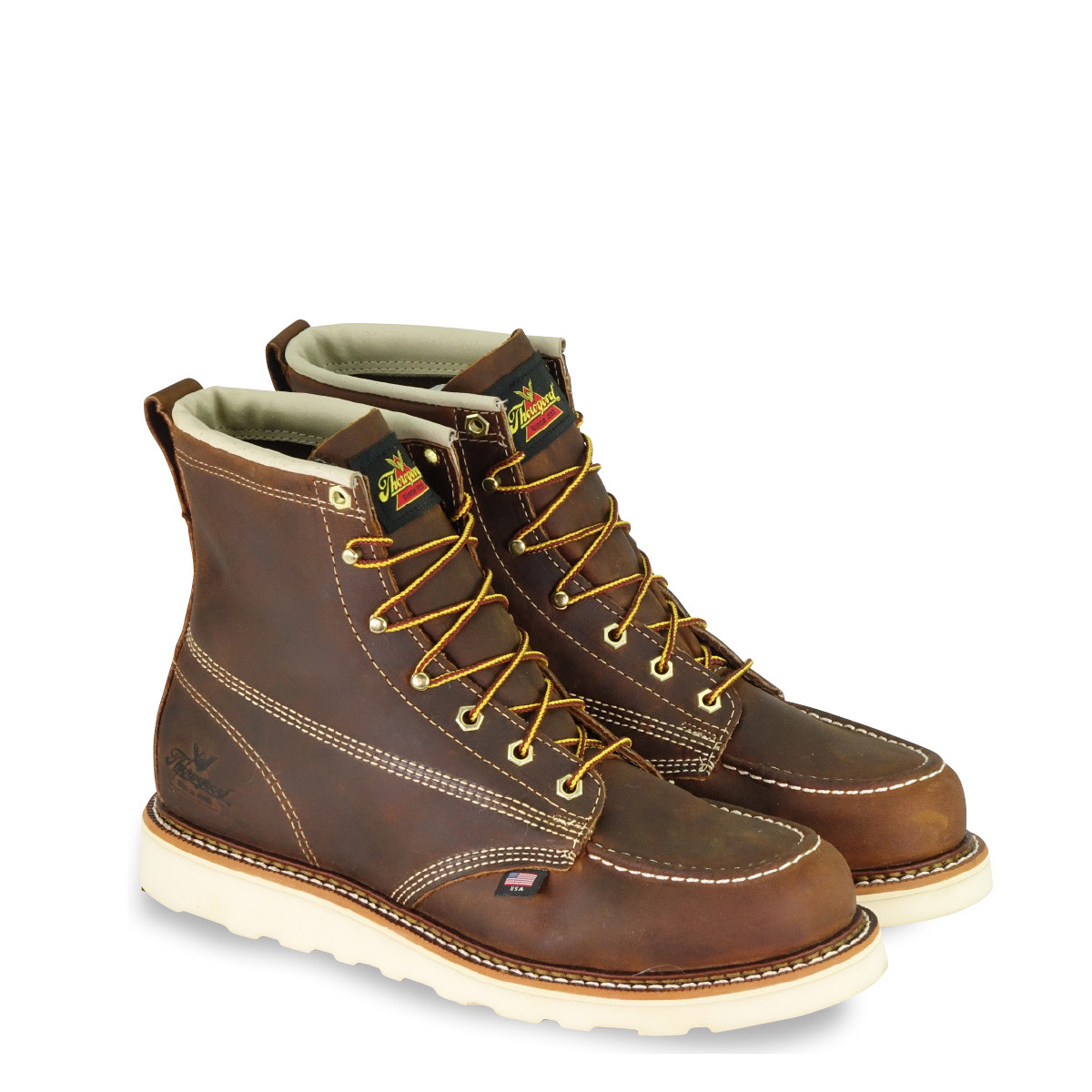 5502610d81f MEN'S THOROGOOD AMERICAN HERITAGE 6″ TRAIL CRAZY HORSE MOC NON ...