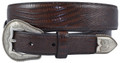 "DAN POST WESTERN BELT lizard printed leather strap1 1/2"" #9110500-BR"