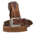 "3-D Western 1 1/2"" Brown Men's Western Fashion Belt  #7314"