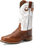 "Men's Double H  MARTY 12"" Wide Square Steel Toe Work Western Oak Fine Wave Outsole #DH7003"