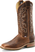 "Men's Double H GALVESTON  13"" Domestic Low Profile Square Toe Roper Oak I.C.E.™ Outsole #DH4852"