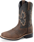 "Men's Double H 11"" WORK Francisco 11"" Wide Square Toe Roper Fine Line Work Outsole #DH4258"