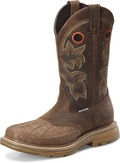 "Men's Double H13"" WIDE SQUARE COMPOSIT SAFTY TOE WATERPROOF CRAZYHORSE BROWN WorkFlex MAX Outsole #DH5149"