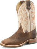 "Men's Double H DALLAS 11"" Domestic Low Profile Square Toe Roper Oak I.C.E.™ Outsole #DH4851"