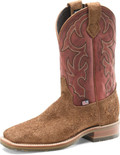 "Men's Double H ODESSA 11"" Domestic Low Profile Square Toe Roper Oak I.C.E.™ Outsole #DH4853"