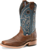 "Men's Double H ADRIAN 12"" Domestic Wide Square Roper Leather I.C.E.™ Outsole #DH4636"