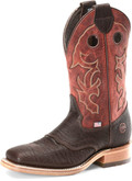 "Men's Double H ANDRE 12"" Domestic Wide Square Roper Leather I.C.E.™ Outsole #DH4633"