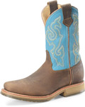 "Men's Double H ERIC 2"" Domestic Wide Square Steel Toe Roper Oak I.C.E.™ Outsole #DH3576"