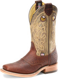 "Men's Double H ALEC 12"" Domestic Wide Square Roper Leather I.C.E.™ Outsole #DH4634"