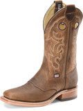 "Men's Double H ABEL 12"" Domestic Wide Square Roper Leather I.C.E.™ Outsole #DH3593"