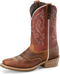 "Men's Double H CALEB 12"" Domestic Wide Square Roper Oak I.C.E.™ Outsole #DH4631"