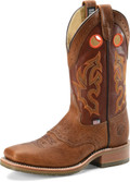 "Men's Double H MICKEY 13"" Domestic Wide Square Steel Toe Roper Oak I.C.E.™ Outsole #DH5400"