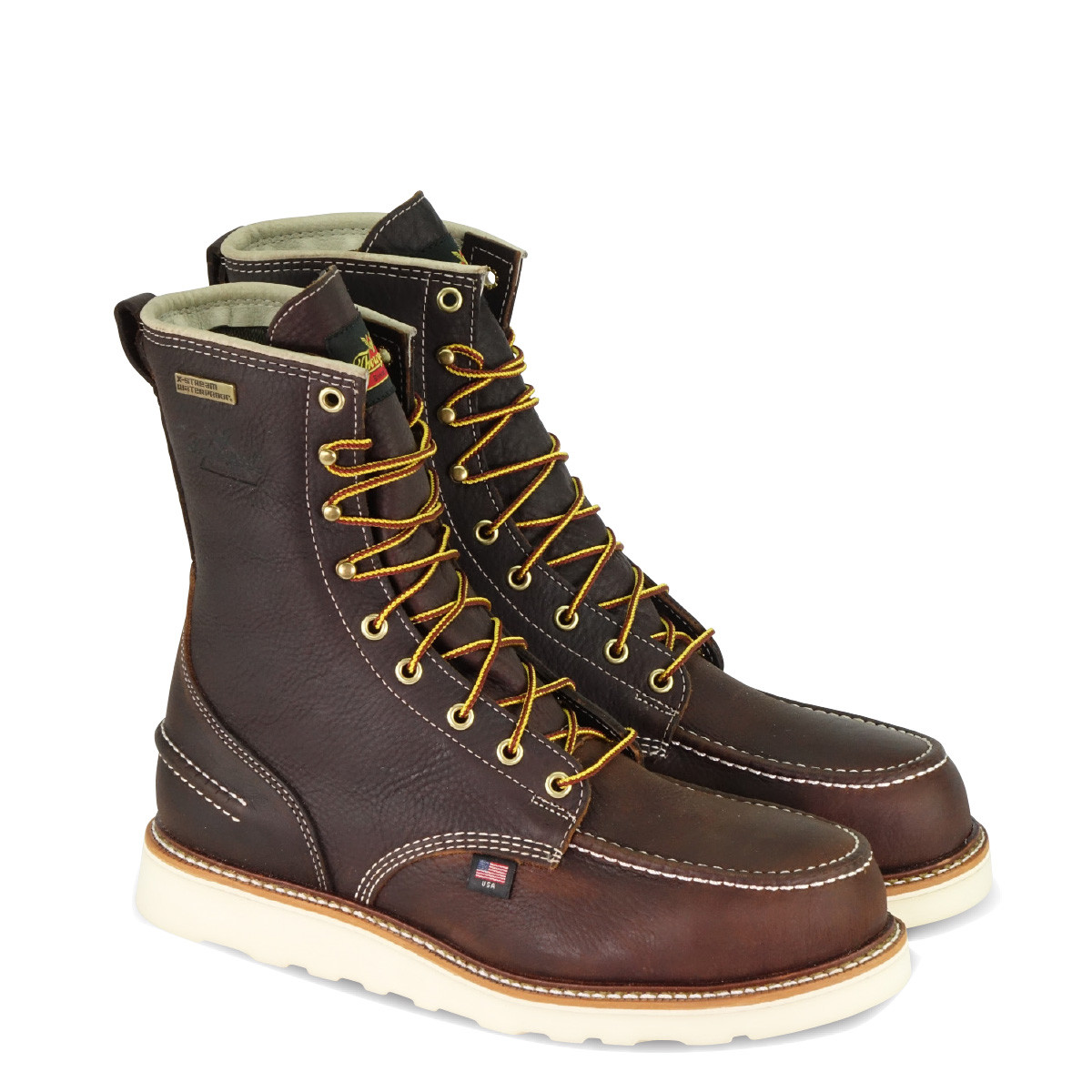 4e91a8e2908 MEN'S THOROGOOD 1957 SERIES 8″ BRIAR PITSTOP STEEL SAFETY MOC TOE ...