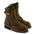 MEN'S THOROGOOD LOGGER SERIES – 9″ BROWN CRAZYHORSE WATERPROOF –  STEEL SAFETY TOE  #804-3555