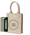 Jute Bag With Clear Top
