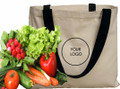 Canvas Tote With Black Handles