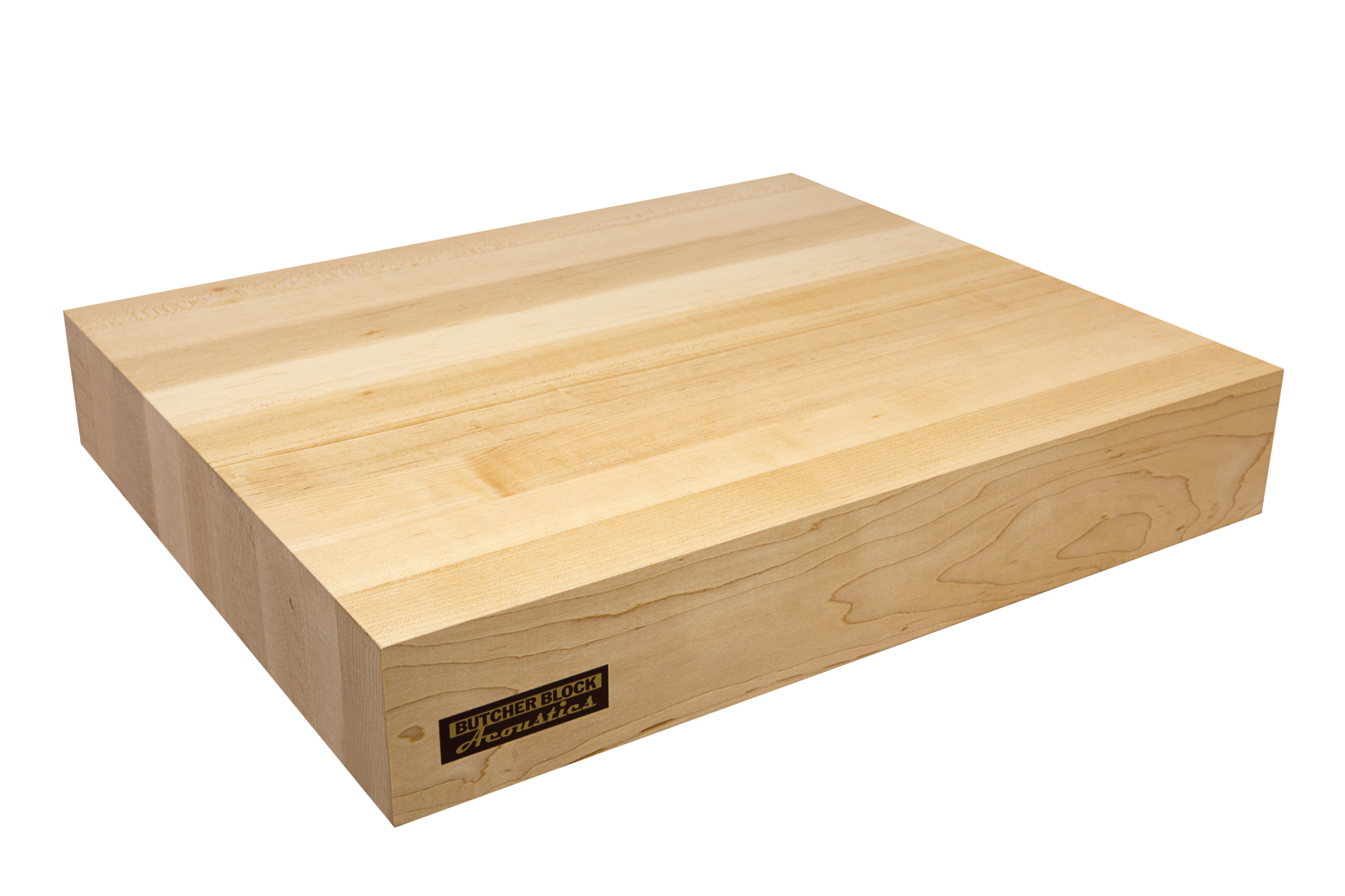 3in maple edge grain audio platform