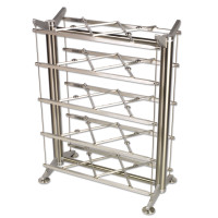 "This is a picture to illustrate the Grid system only. The 28-40-3 rack would actually be a double 20"" rack, with two 20"" grid shelves side by side."