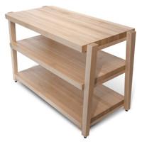 3 shelf RigidRack, maple shelves, maple legs