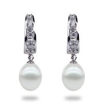 Catherine fresh water pearl and zircon hoop