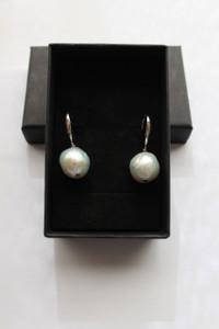 Le Cambridge grand boucles d'oreilles perles fine baroque et 925 Argent en mode et un style préféré de Kate Middleton Duchesse de Cambridge