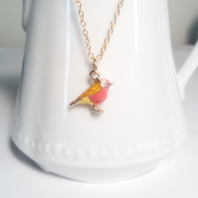 Bird Charm 18 KT Gold Necklace