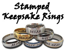 Stamped Keepsake Rings