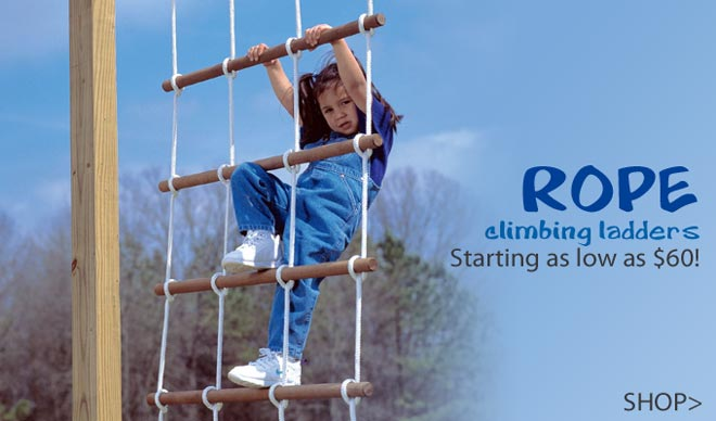climb and have fun with all our swing set accessories