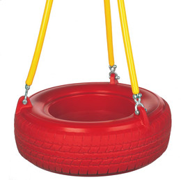 """Plastic Tire Swing with 5'6"""" Soft Grip Chain (PT-10)"""