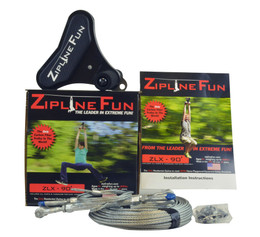 Zipline Fun ZLX Xtreme 90 ft Zip Line