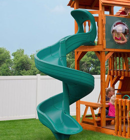 7 ft Super Open Spiral Slide - Green