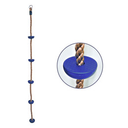 7 ft Climbing Rope with Steps