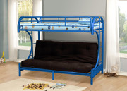 #4509- Twin Futon Metal Bunk