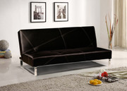 #85069 Abstract Stitching Futon Convertible in Faux Leather
