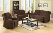 #80499 Corduroy Sofa, Love and Chair, 5 Recliners