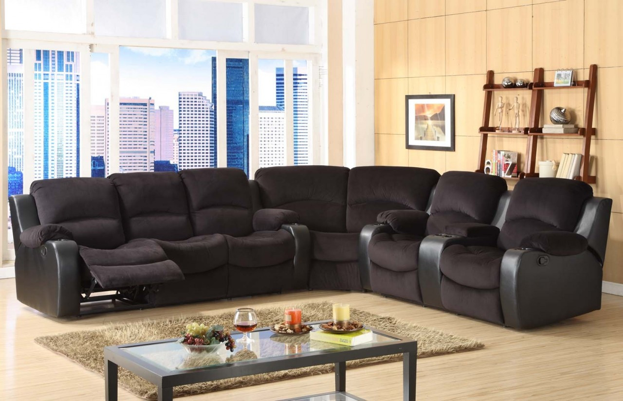 80482 Sectional Reclining Sofa, Love and Wedge, 4 Recliners ...