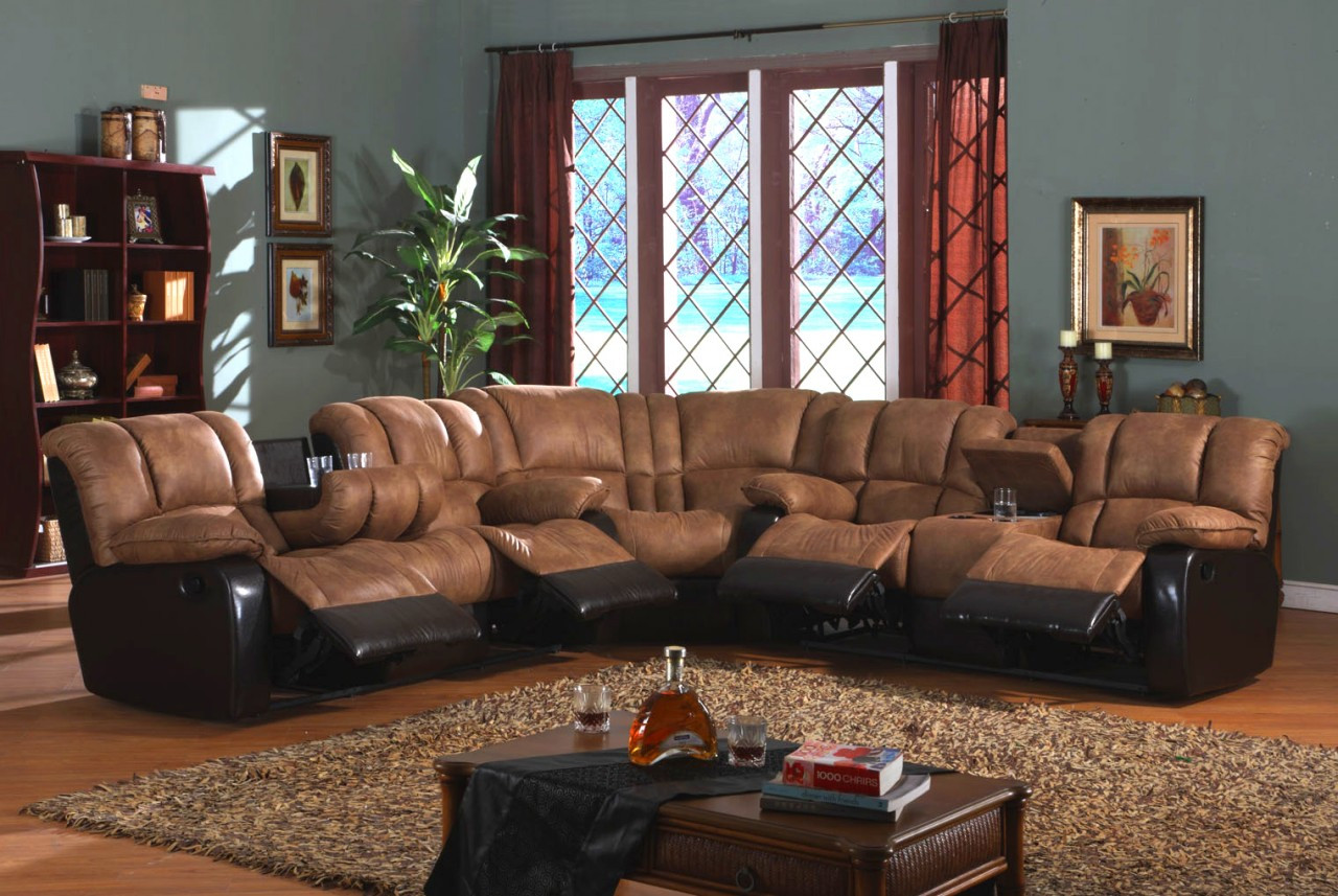 80471 Palomino Sectional Reclining Sofa, Love and Wedge, 4 ...