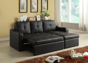 #80456 Contemporary Sectional with Storage Chaise & Bed