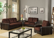 #80380 Contemporary Microfiber/PU Living Rooms Set