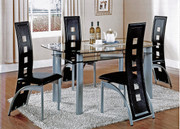 #49251/47364 Modern Upholstered Leg Dining Set