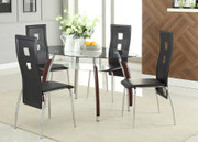 #49254/47435 Calico Dining Table Set w Keyhole Chairs