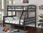 Alissa Twin/Full Bunk Bed (#4530331 - ABC - Rustic Grey)