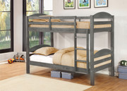 Alissa Twin/Twin Bunk Bed (#E4530031- AB - Rustic Grey)