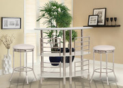 #49357+ 47558 - Sogo 3 Tier Glass & Chrome Metal Bar Set