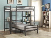 #45344 - Mason Twin Loft/Twin Bed With Bookshelves and Writing Desk
