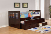 Benny Full Captains Bed w/Trundle & 3 Drawers #45412