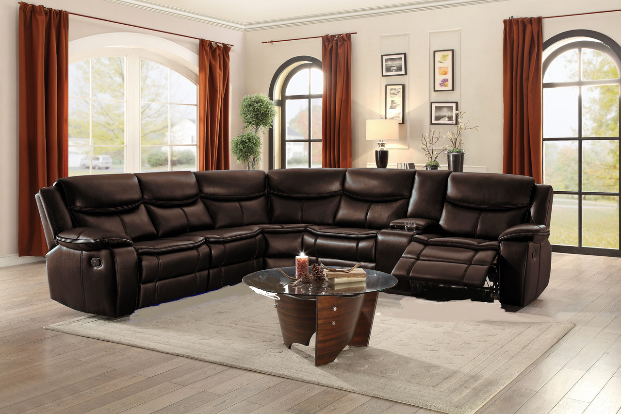 Strange 80987 Baron Motion Sectional Sofa With Console Led And Alphanode Cool Chair Designs And Ideas Alphanodeonline
