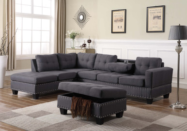 Phenomenal 8097822 A B Ot Nero Reversible Sectional With Storage Gmtry Best Dining Table And Chair Ideas Images Gmtryco