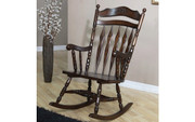 Traditional Rocking Chair #701019 (Dark Walnut)